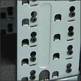 Anti-vibration HDD cage mounts.