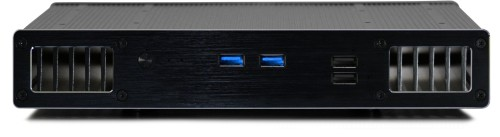 Front view of the UltraNUC Pro 7 Fanless PC - Plato X7