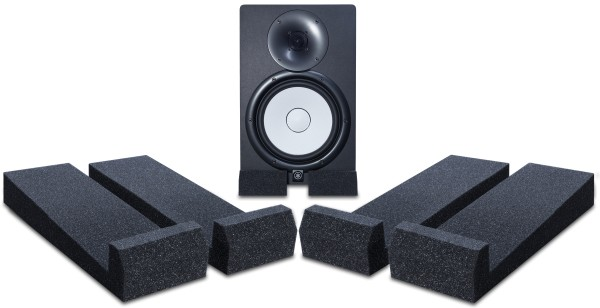 Shown supporting a Yamaha HS8 Studio Monitor