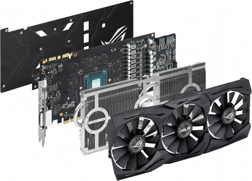 Exploded view of the ASUS GTX 1080Ti