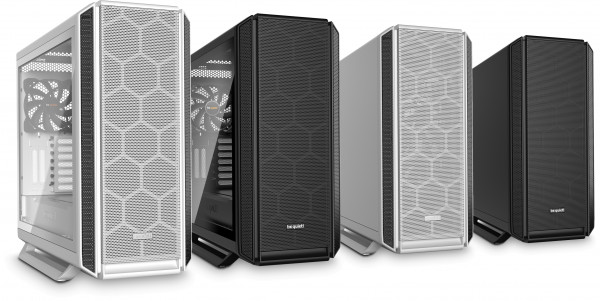 Silent Base 802, available with or without a tempered glass side panel